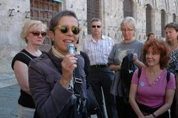 Our tour guide spoke very clear English, had a wonderful disposition, and shared some great details with us throughout our day in Sienna. She had a small speaker with microphone, so we could always ... , Jenni S - October 2007
