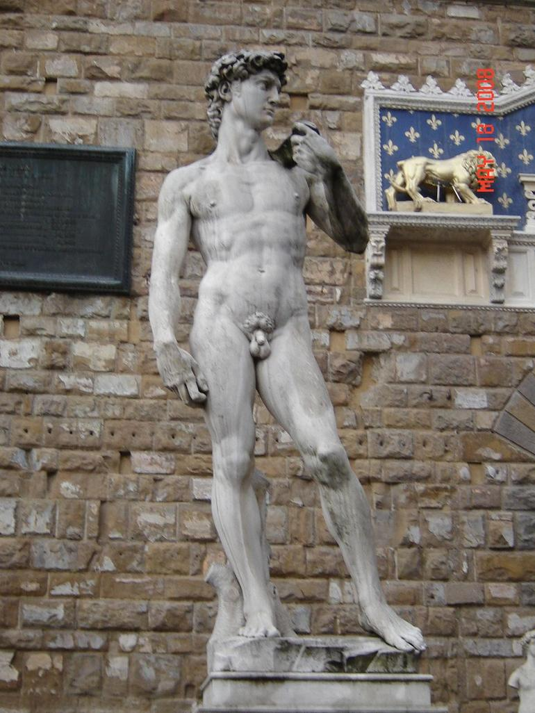 Statue of David in front of Uffizi - Florence