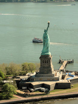 First time seeing Liberty from the air .... , D J N - May 2012
