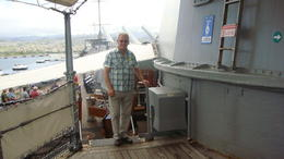 Ray Field on USS Missouri tour , raymond.field - April 2012