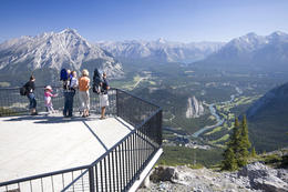 Banff Gondola, Banff Skywalk and view of Banff , BrewsterCanada - April 2012
