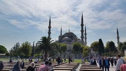 In front of the Blue Mosque , Karen S - October 2014