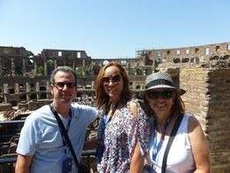 My son, his wife and myself at the Colloseum. , Harold W - June 2015