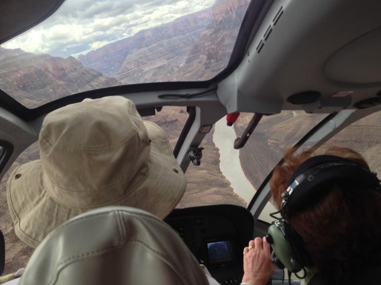Flying over the Colorado River - Las Vegas