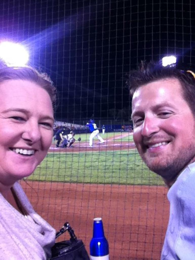 Fun at the baseball - Las Vegas