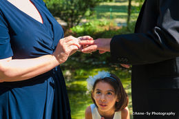 The wonder in our daughter's eyes seeing mommy and daddy getting married. , speedyag64 - August 2016