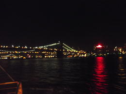 My fiancee, Katie Gleadhall, and I boarded the evening cruise and took in the sights of Manhatten and the Statue of Liberty. We couldn't manage to take anything but a blurry picture! , Jamie C - November 2013