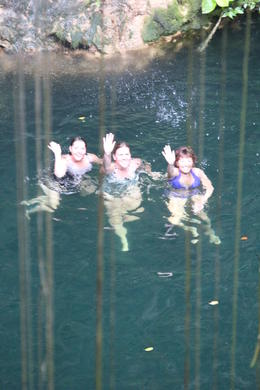 Jill, Kris and Rhonda in the Cenote. , Rhonda L - December 2013
