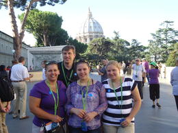 Entrance to the Vatican. My family. , Melissa L - August 2013