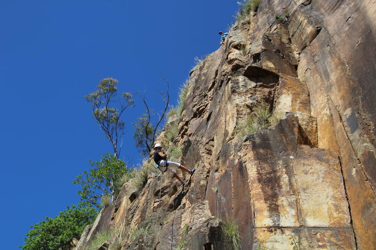 Abseiling the Kangaroo Point Cliffs in Brisbane photo 8