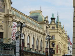 Municipal House (foreground) and Hotel Kings Court (distant). Highly recommend booking Hotel Kings Court Executive Room. Also, book a concert at the Municipal House Smetana Hall (principal concert..., Chris - July 2014