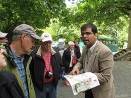 With our guide, Santiago, He was explaining what we were seeing at the Palace. , RICHARD S - June 2013