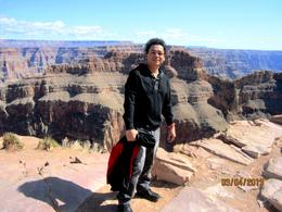 My picture at Eagle Point, Grand Canyon West Rim , Bobby V - March 2013