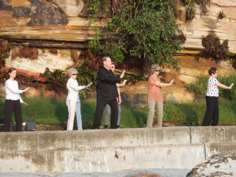 Early morning Tai Chi -
