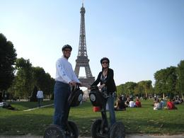 My husband and I after the segway tour of Paris, Kristine S - September 2009