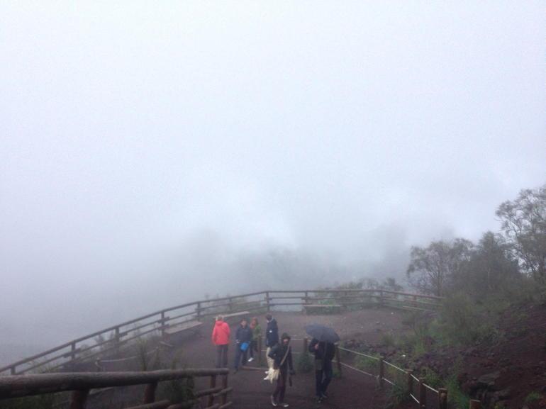 Foggy Mt. Vesuvious - Naples