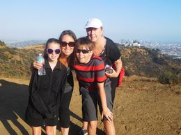 My mom, the kids and I at the top of Mt. Hollywood enjoying the great view! , Jessica L - July 2016