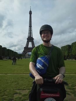 Me on a segway in front of the Eiffel Tower , Jason G - May 2014