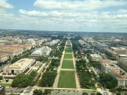 View of the National Mall and Capitol looking east from the Washington Monument , Ronald T - August 2016
