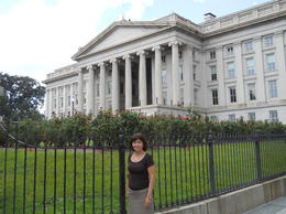 That's me in front or the White House , vilma c - September 2012