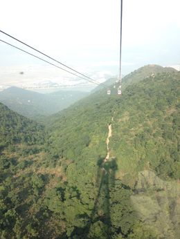 The cable car ride is swift and steep - don't look down! , Jane J - November 2015