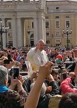 We were about 30 feet from the pope! , Vicki - June 2016