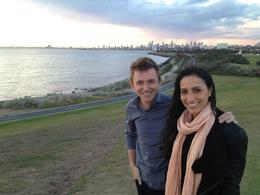 Melbourne skyline, Asha & Brock - July 2013