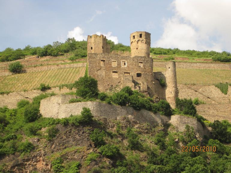 Ruins from middle ages - Rhine River