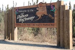 Rainer picked us up at our hotel at 7:30am. We were on pavement for about 80 miles before starting down the Dalton Highway. , Ione E. J - May 2015