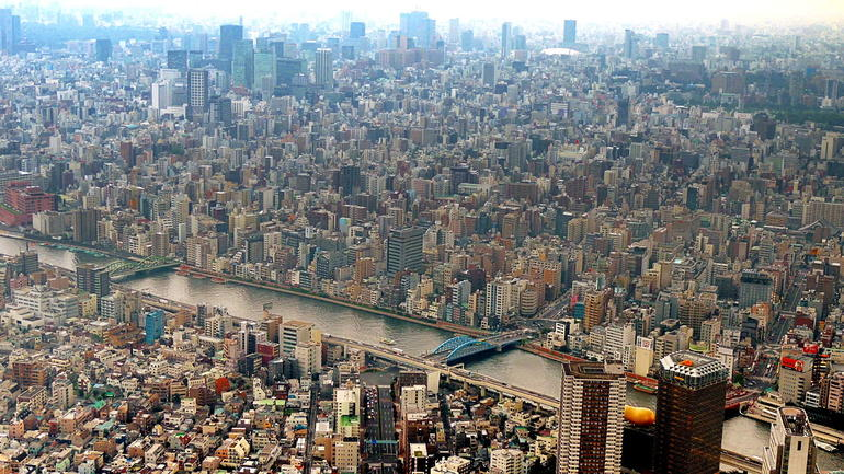 View from skytree tower - Tokyo