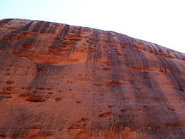 After viewing the sunrise over Ayers Rock and Kata Tjuta (the Olgas) we hiked through the Walpa Gorge. A photograph can't really capture how massive it is. Stunning. , Jim and Janet - December 2012