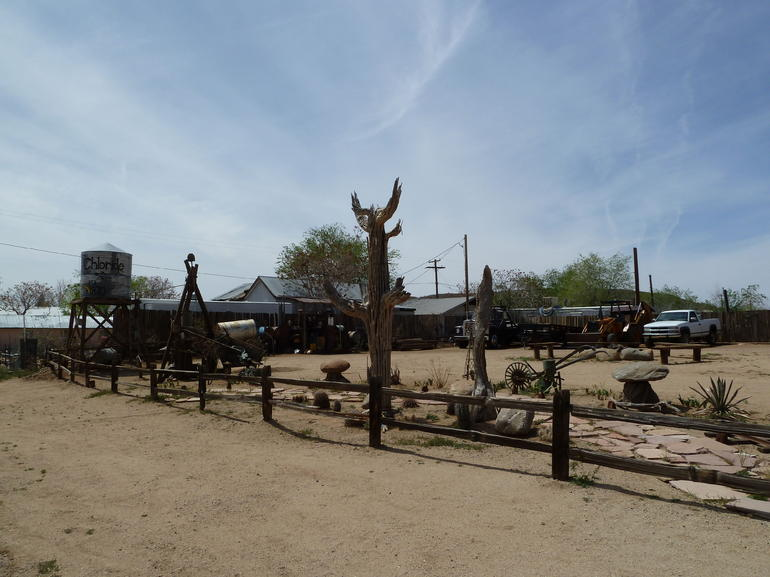Yard art in Chloride Ghost Town - Las Vegas