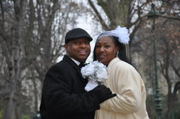 One of the many pictures of our amazing Vow Renewal at the Eiffel Tower. , Dehigh T - January 2017