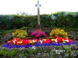 Beautiful Cross and Garden near Loch Lomond , Heather M - July 2017
