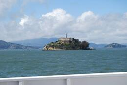 the island from the ferry, Sam B! - April 2014