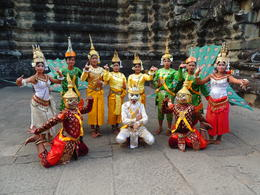 For only $1.00 you can take a photo with the Ancient Royal Dancers at Angkor Wat. , Kevin F - December 2014