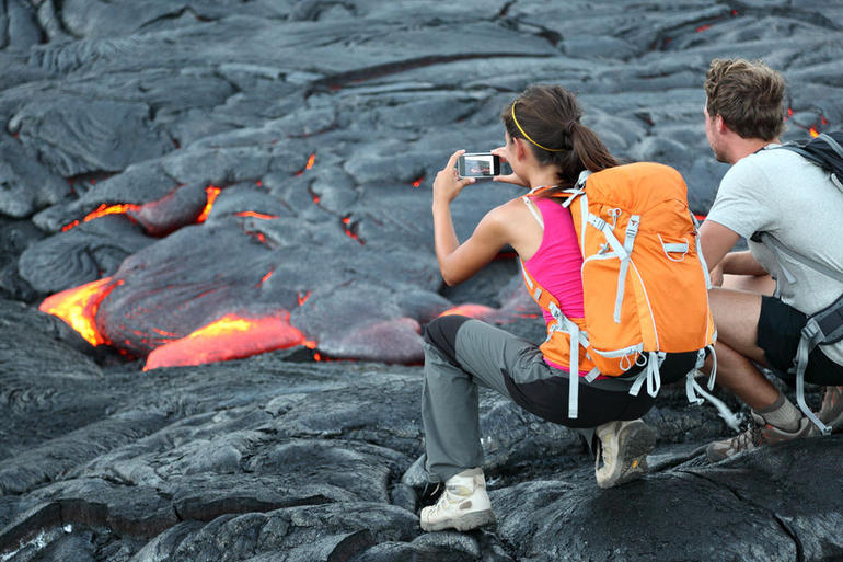 Doesn't get any closer to the lava than this! - Big Island of Hawaii