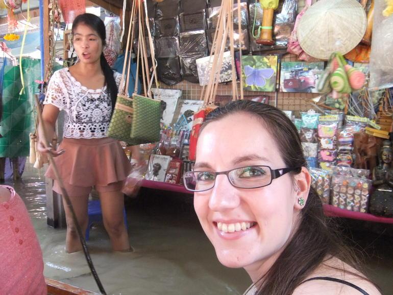 Floating Stores in the Floating Market - Bangkok