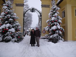 The grounds of Hellbrunn looked very festive. , C. M. H - December 2012