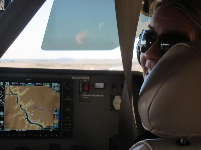 jen in plane - Las Vegas
