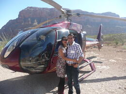 Photo clicked after landing at Grand Canyon where we celebrated with Champagne. , Rahul S - March 2013
