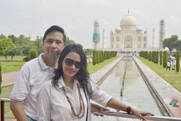 Celebrate our wedding anniversary in famous Taj Mahal , Micq - August 2016