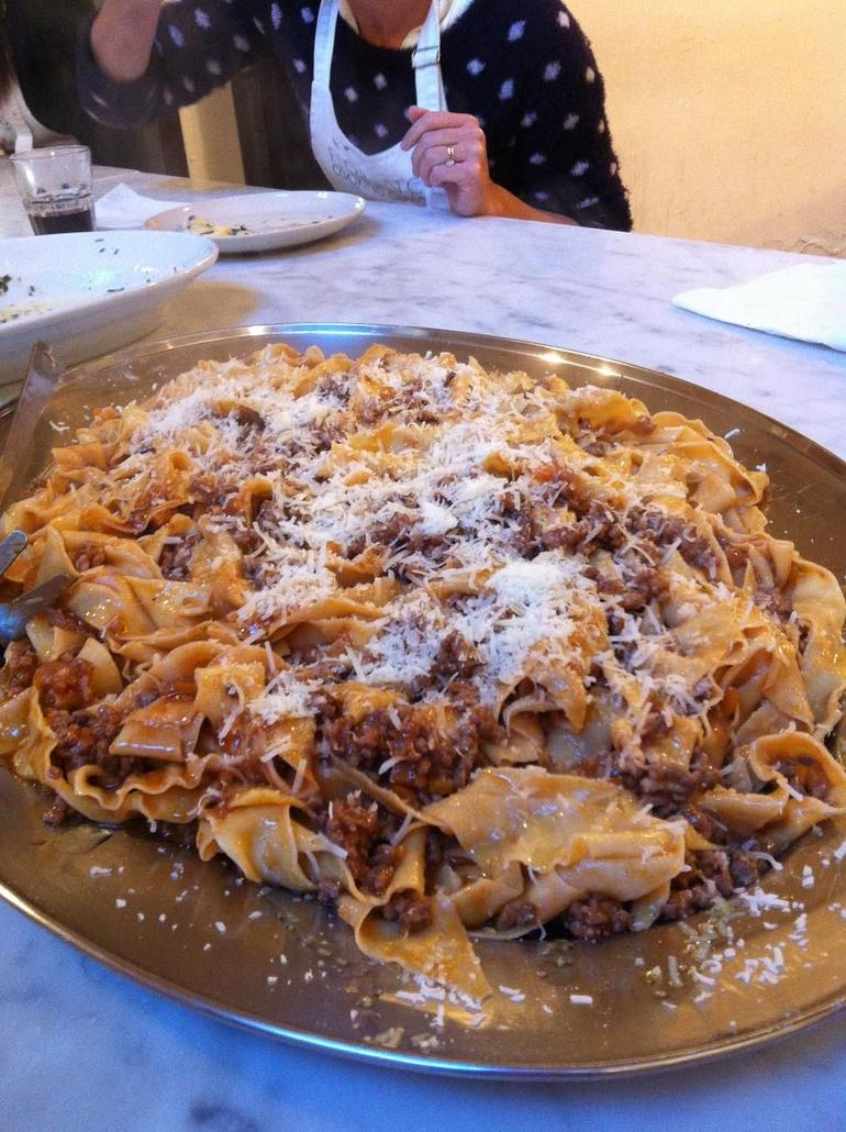 pasta in bolognese sauce - Florence