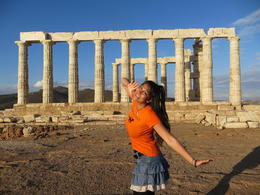 Temple of Poseidon in Cape Sounion Nov 2016 , ANNABELLE P - November 2016