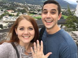 We got engaged on top of the Hohensalzburg Castle during our trip! , Michelle J - October 2017