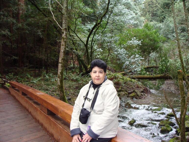 Amanda in the woods - San Francisco