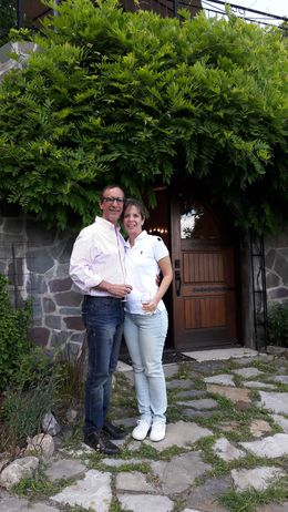 My wife and I at the entrance of the stock wine. Lovely place and excelent local wine. For my taste, was the best wine I tried, together with the care dispensed by its owner and Gail, our tour ... , Ramon C - July 2016