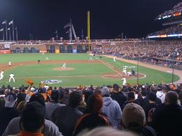 Giants about to take game 5 in the playoffs., Jacqueline - October 2010