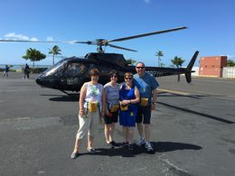 Wendy, Donna, Bernie and Myself after our Helicopter Flight. , Garry R - August 2016