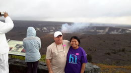 Yolanda and John at Kilauea Volcano , Jean - January 2016
